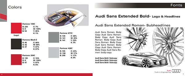 audi branding guidelines on behance rh behance net Corporate Identity System Corporate Identity Package