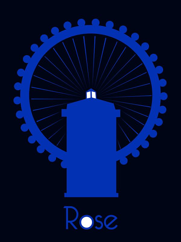 Doctor Who  bbc minimalist poster