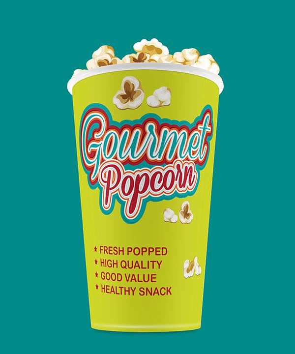 Gourmet Popcorn (Logo, Cup & App Design) on Behance