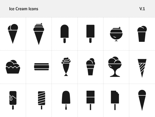ice cream icons   vector  free download  on behance