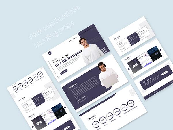 Personal Portfolio Landing Page Concept 2