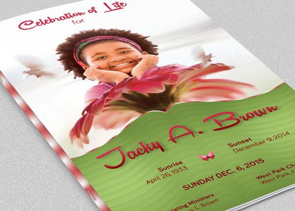 Child Funeral Program Template On Behance