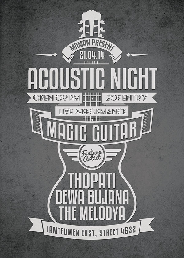 Acoustic Typography FlyerPoster Vol On Behance