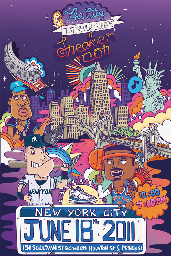 Posters for Sneaker Con NY & Miami on Behance