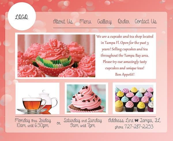 Cupcake Template Design : cupcake website template cake ideas and designs. html5 ...