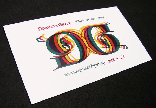 dorinda gayle logo business card on behance