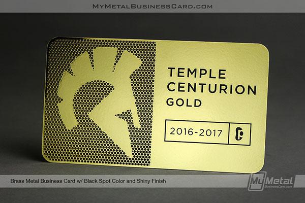 Shiny brass metal membership card on behance colourmoves
