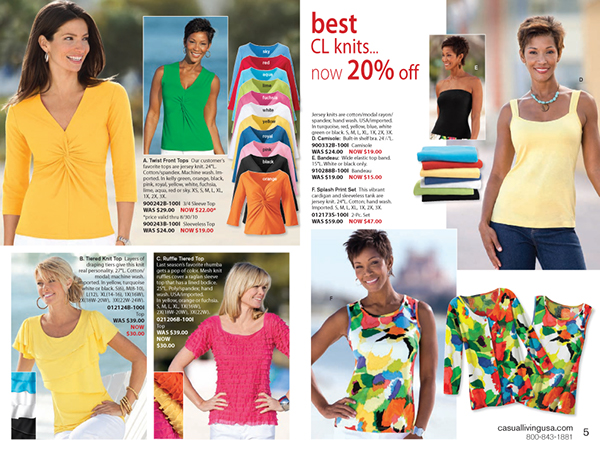 Casual Living featured at avupude.ml Shop the womens clothing catalogs that combine the selection of shopping in a store, with the convenience of a catalog. Find fashionable apparel, Miracle Suits, unique jewelry, decorative home accessories & more.