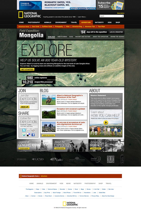 National Geographic Field Expedition Mongolia On Behance