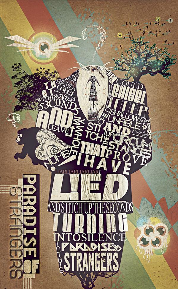 text art skull abstract The Catalyst 29 paradise of strangers