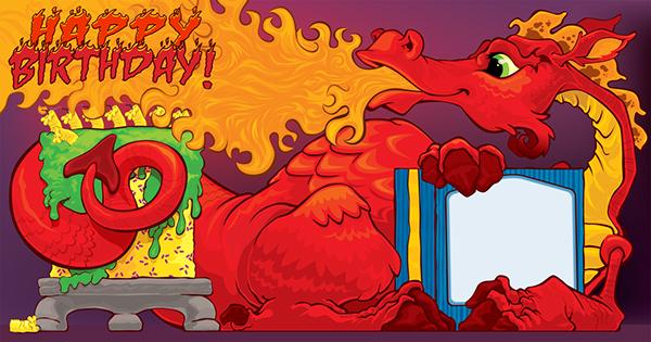 Открытки с днем рождения драконы, годовщина свадьбы стих