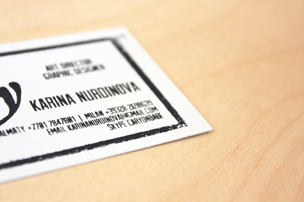 the very special business card on behance