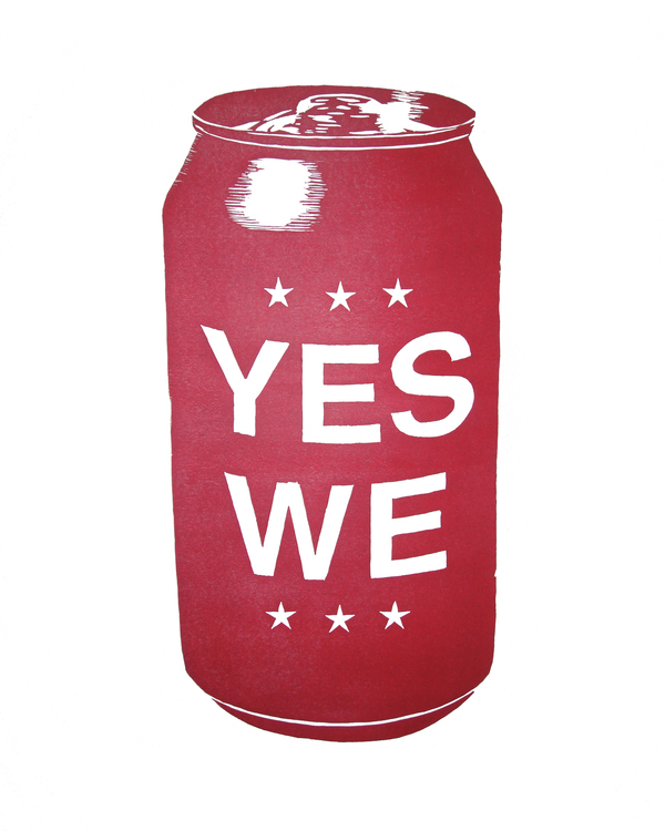 """""""Yes We Can"""" Woodblock Print on Behance"""
