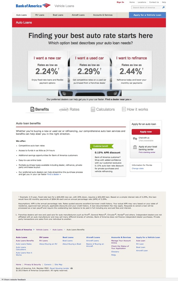 Bank Of America Vehicle Loans On Behance