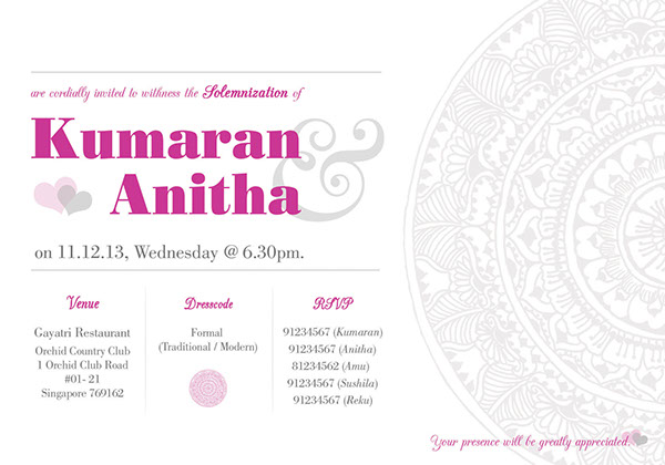 Invitation Card My Solemnization on Behance – Rom Invitation Card
