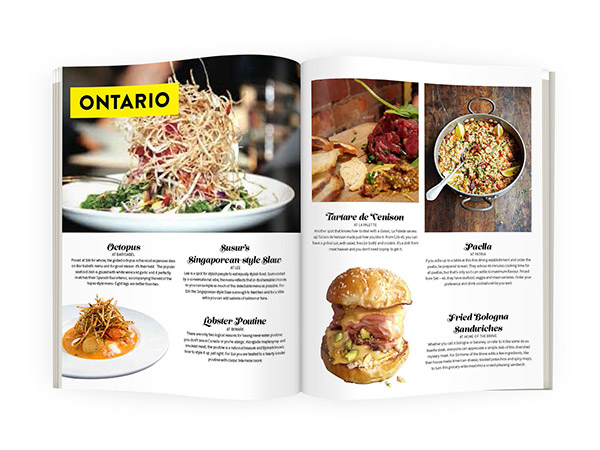 Food article magazine spread designs on wacom gallery food article magazine spread designs forumfinder Images