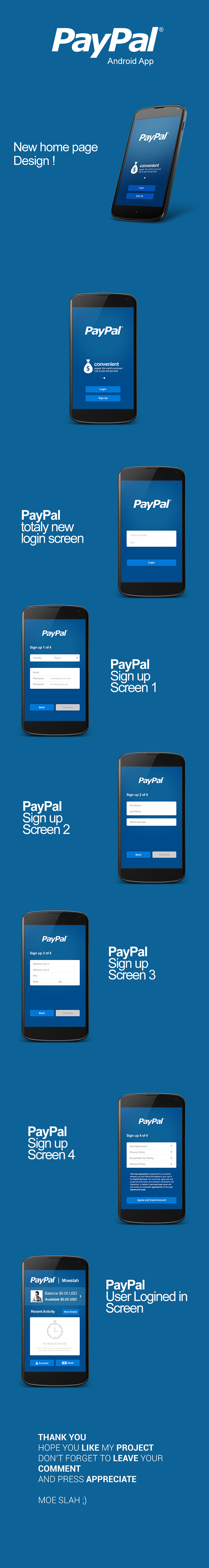 Paypal android app ui design on app design served - Funformobile com login ...