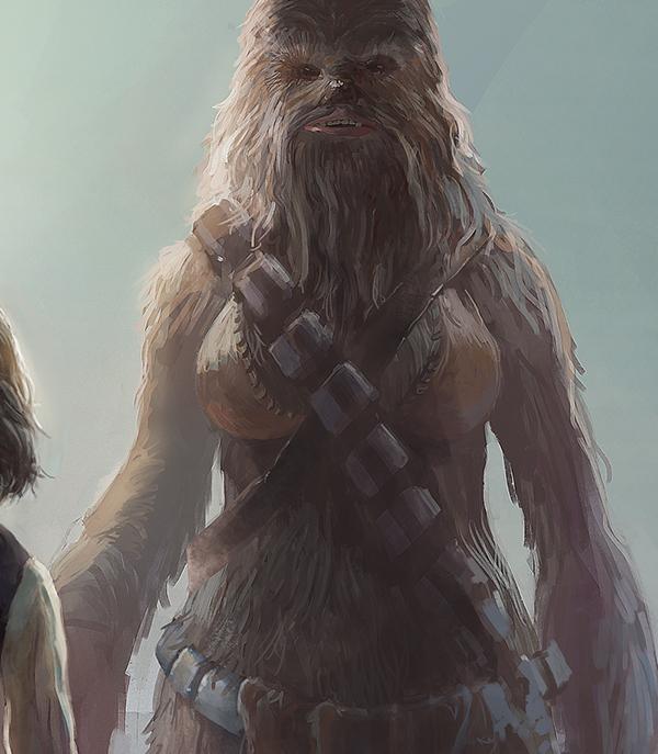 star wars Han Solo Character Fan Art Chewbacca