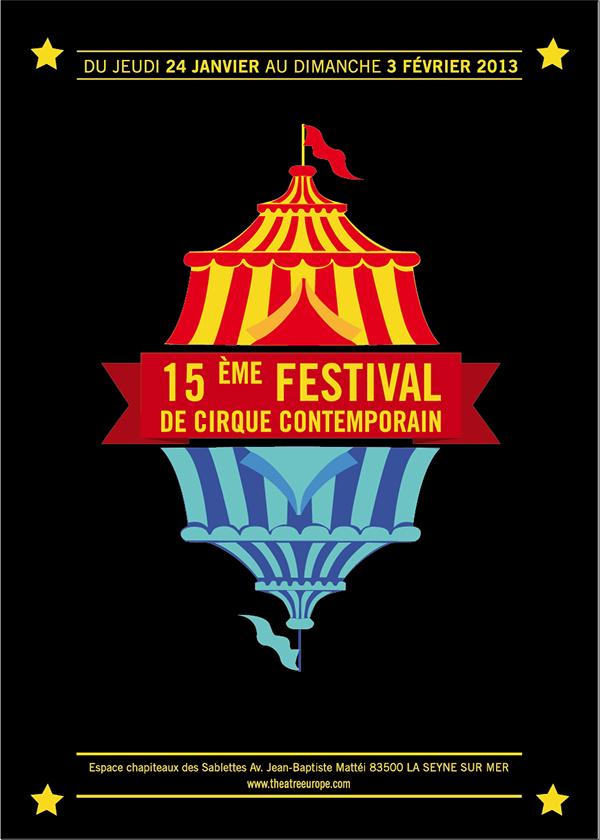 Festival de cirque contemporain on behance for Poster contemporain