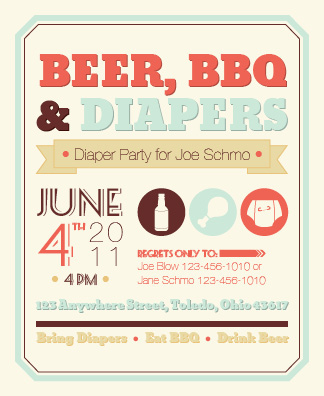 Diaper Party Invite On Behance