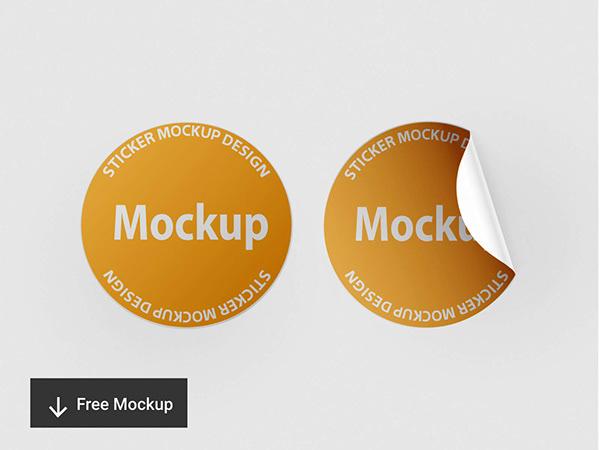 Sticker Mockup Design