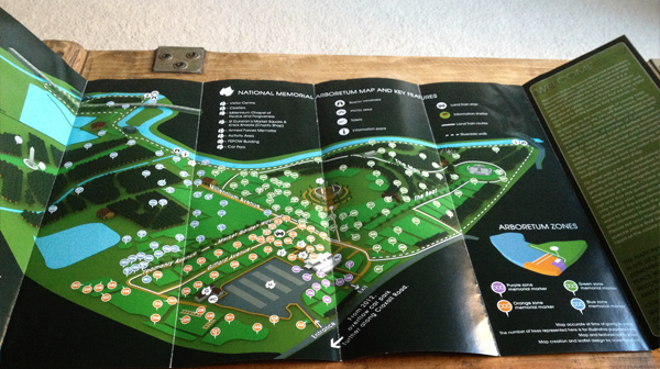 National Memorial Arboretum Map National Memorial Arboretum Map & Guidebook on Behance