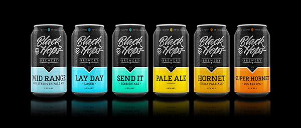 New Black Hops Brewery Packaging