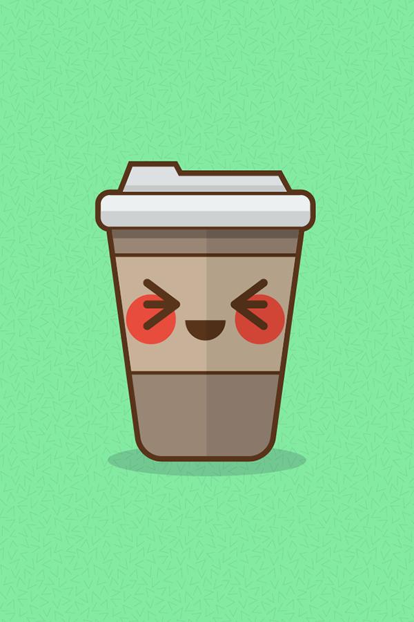 Coffee Cup Kawaii On Behance