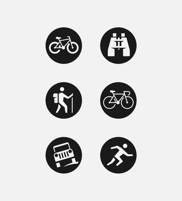 outdoor activity icon set on behance outdoor activity icon set on behance