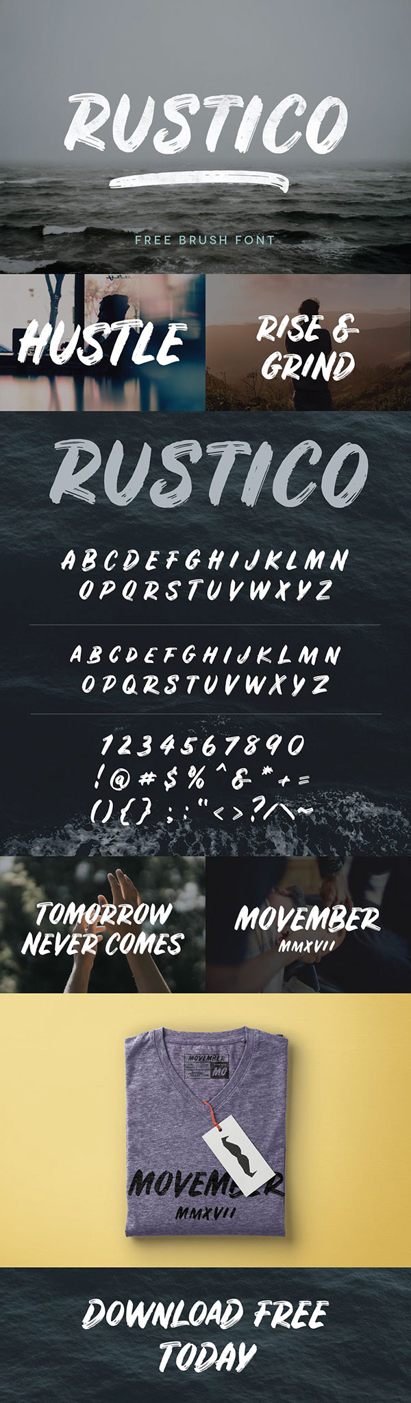 RUSTICO - FREE BOLD BRUSH FONT on Behance