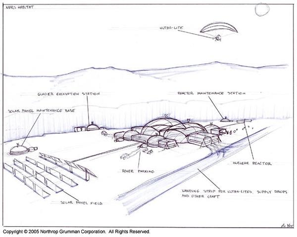 Mars base habitat on behance for Bali motorized blinds programming