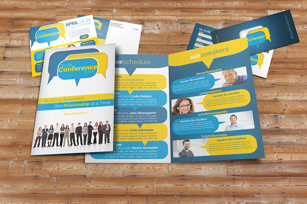Social Conference Brochure Pack On Behance - Conference brochure template