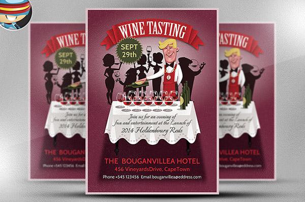 Wine Tasting Flyer Template On Behance
