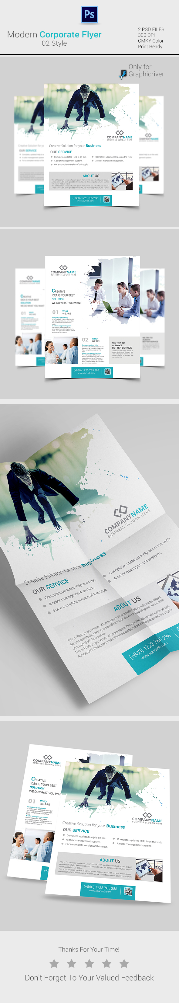 modern corporate flyer templates on behance