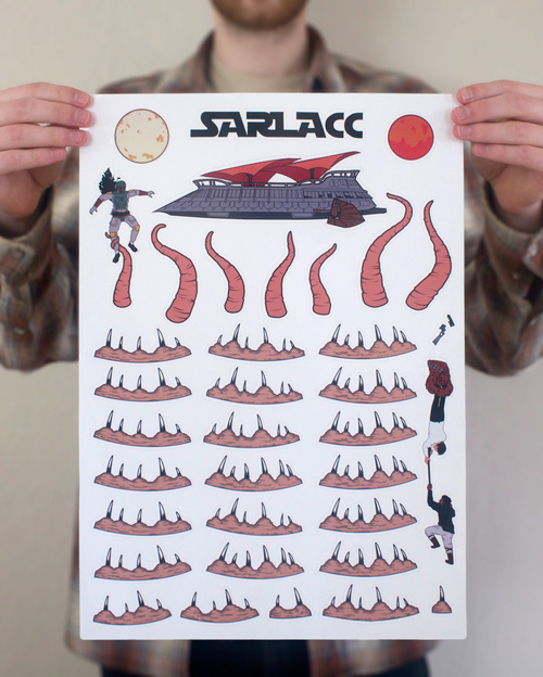 Star Wars Sarlacc Pit Stickers on Behance