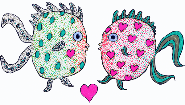 Greeting card drawings fish on behance m4hsunfo