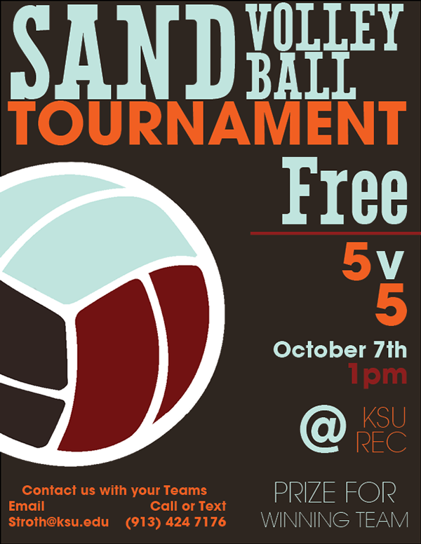 Volleyball Tournament Poster Poster For a Sand Volleyball