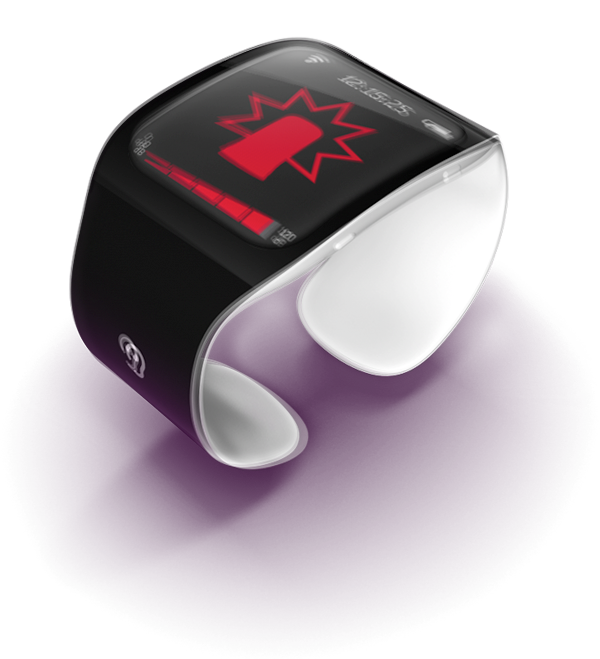 Wristband for deaf device industrial design Konstantin datz rendering 3D student Work