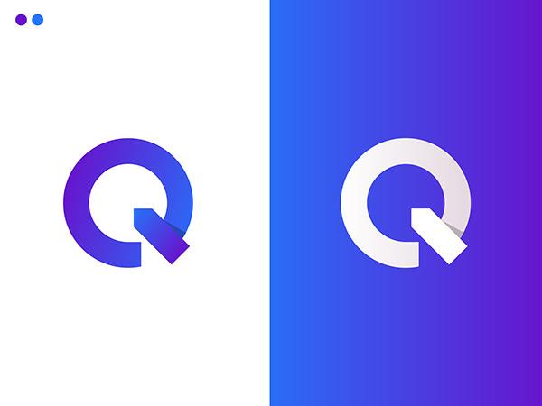 Q Letter logo design/modern logo design