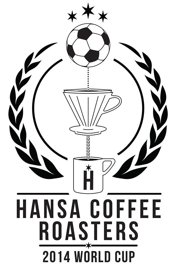 coffee cup art draw vector logo design