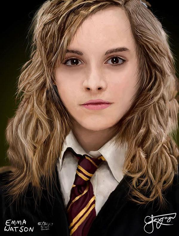 Hermione Granger Emma Watson Digital Painting On Behance