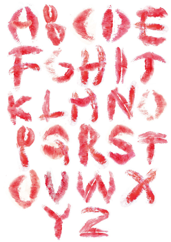 With Lipstick Creation English Font On Behance