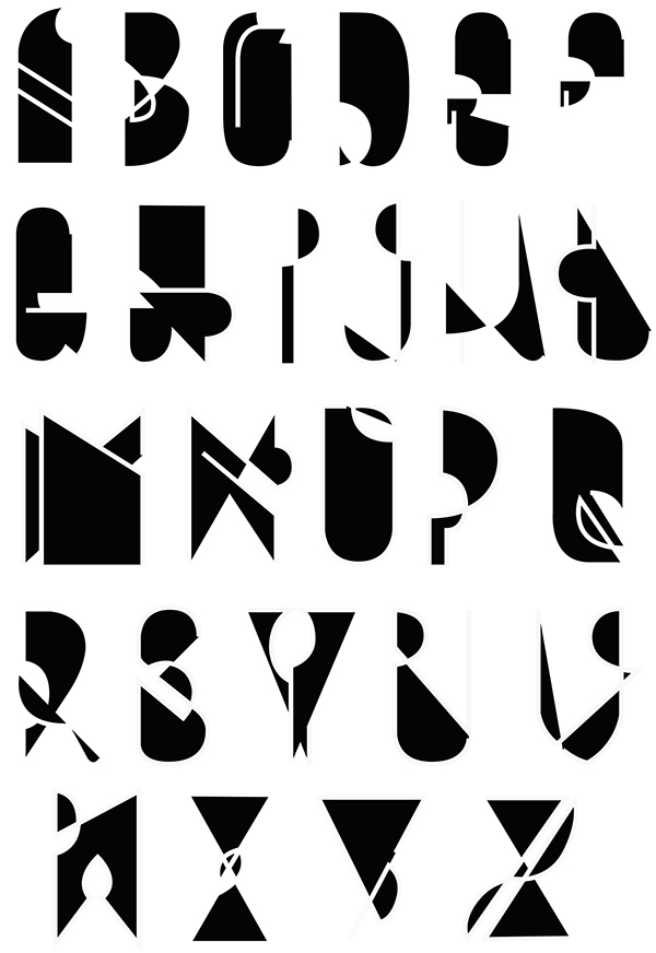 type experimental vectorized letters wire weird