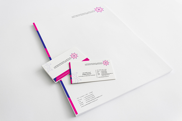 Business card letterhead arab center for media on behance spiritdancerdesigns Images