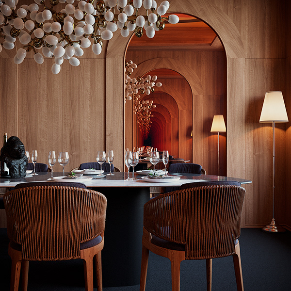 Private area in the restaurant