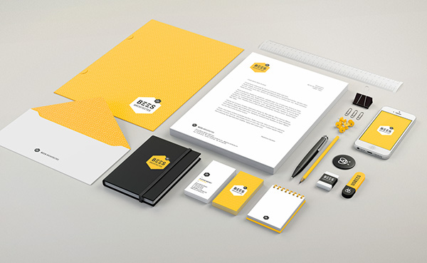 bees architectes brand identity on behance brand architecture office