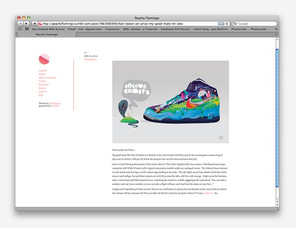 Footlocker Art Prize Nike Colour Comets Finalist On Behance