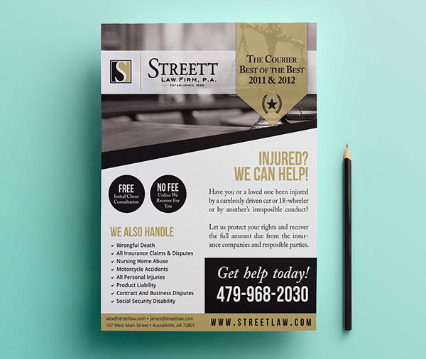 Law Firm Ad Design On Behance