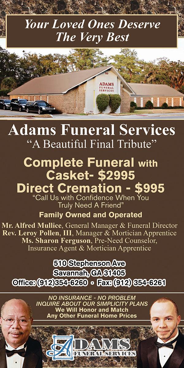 adams funeral home ad update on scad portfolios