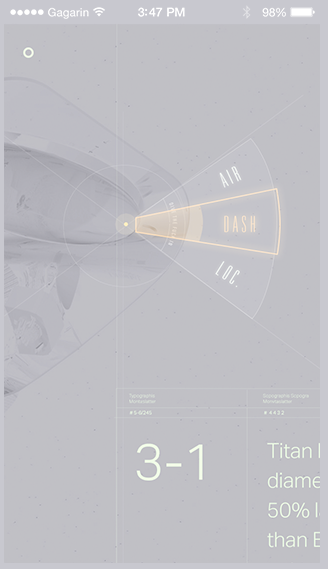landing Space  Titan moon grid modern typographical flat mobile Technology dashboard infographics Booking campaign Responsive